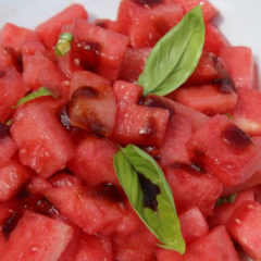 Limin' spicy watermelon salad!
